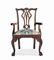 Century Century Chair Pierced Back and Arm Chair