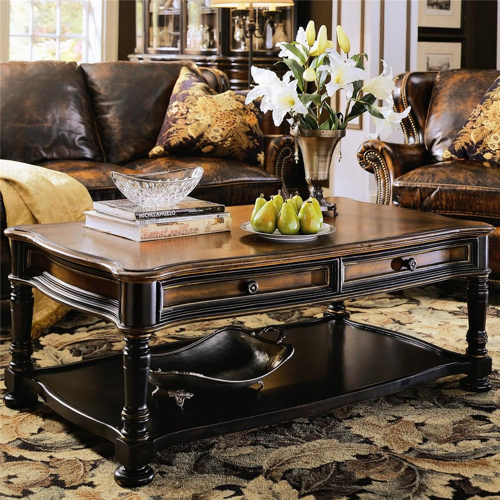 Preston Ridge Cocktail Table by Hooker Furniture at Miller Waldrop Furniture and Decor