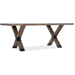 Trestle Dining Table with Metal Accents