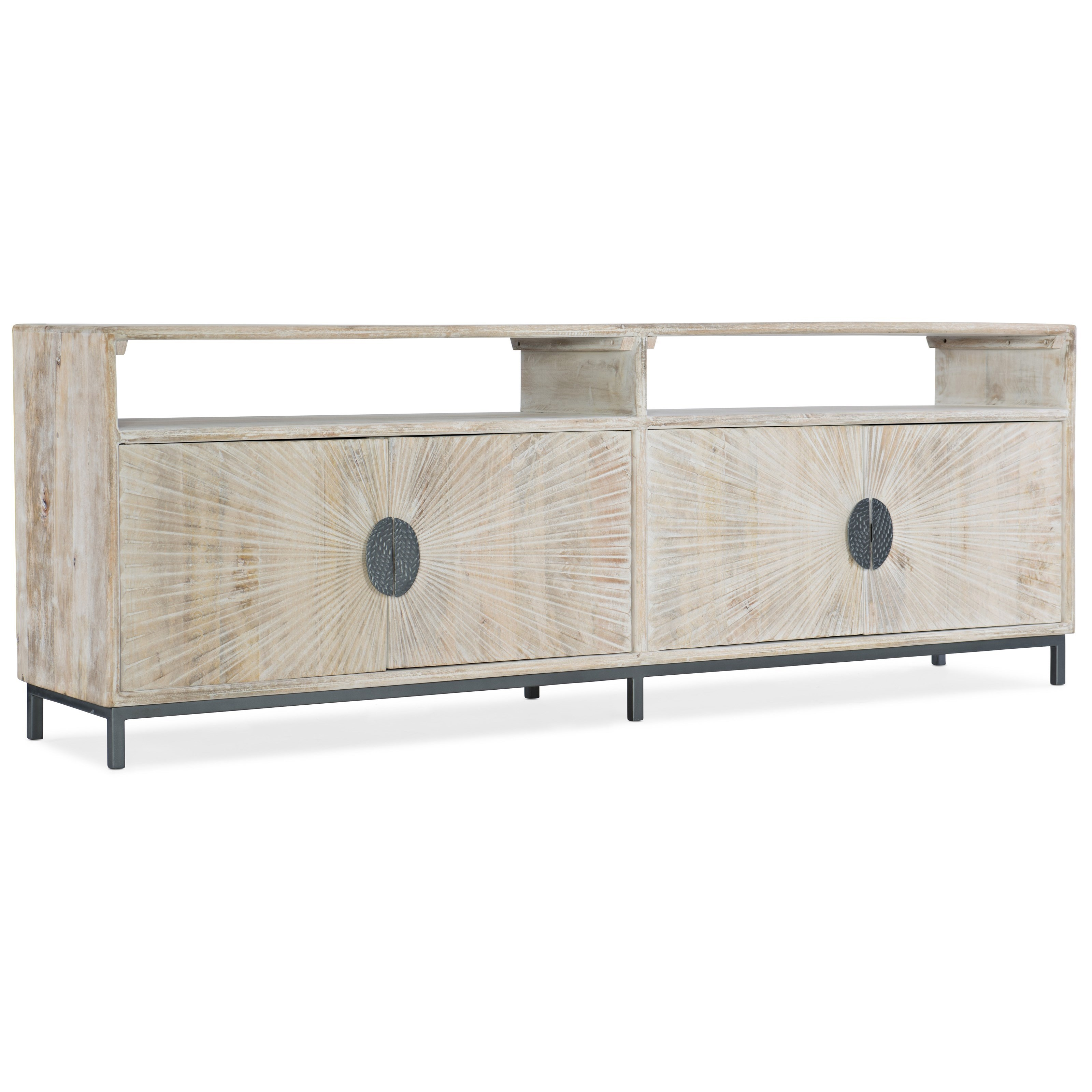 5560-55 Entertainment Console by Hooker Furniture at Gill Brothers Furniture