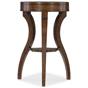 Transitional Accent Table with Small Shelf