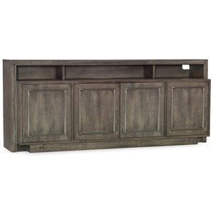 "Transitional Entertainment Console 72"" with Three Plug Outlet"