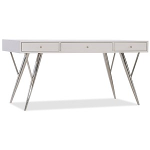 Contemporary Writing Desk with Drop-Front Keyboard Drawer