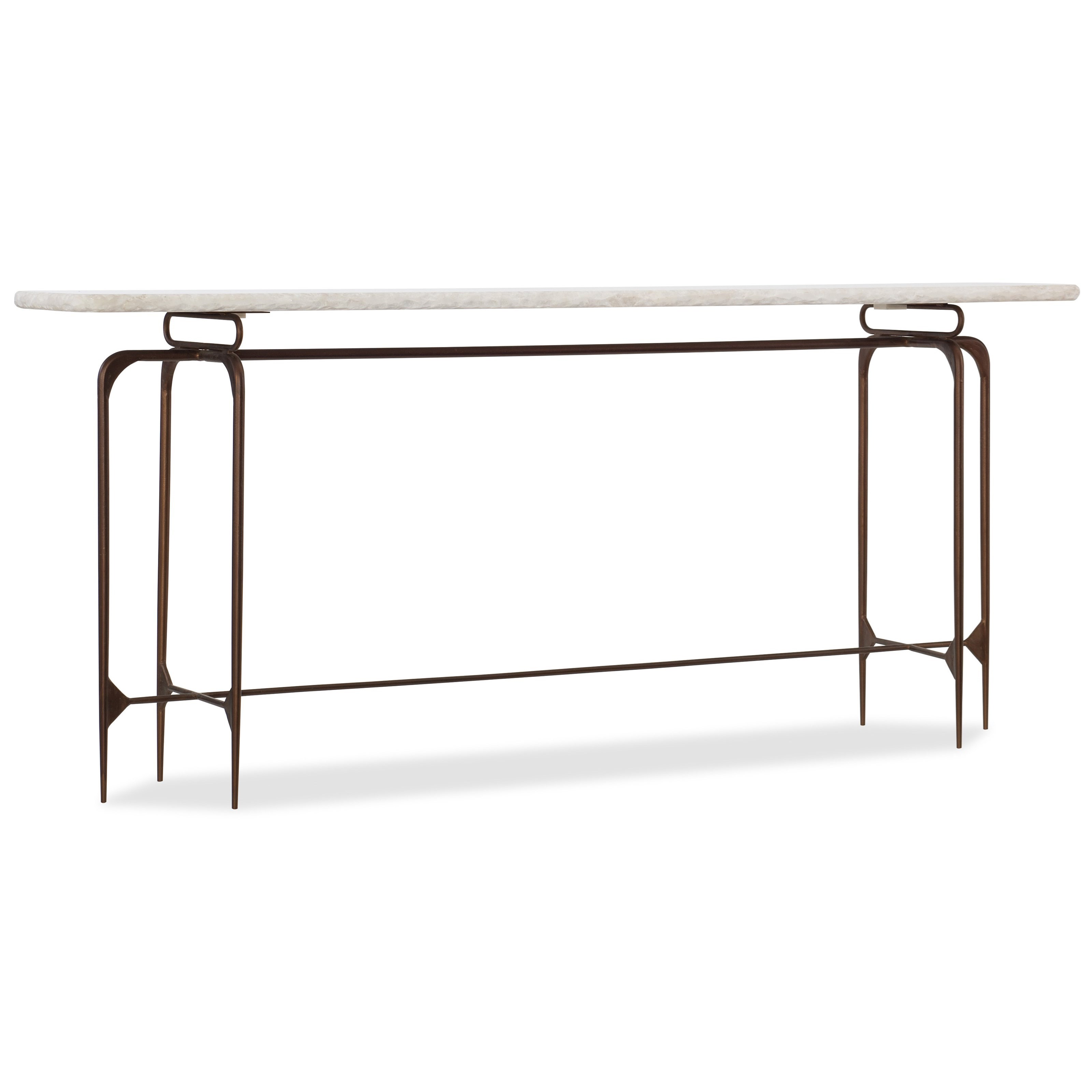 5633 Skinny Metal Console Table with Marble Top by Hooker Furniture at Fisher Home Furnishings