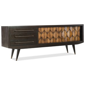 "74"" Mid-Century Modern Entertainment Console with Ventilated Back Panel"