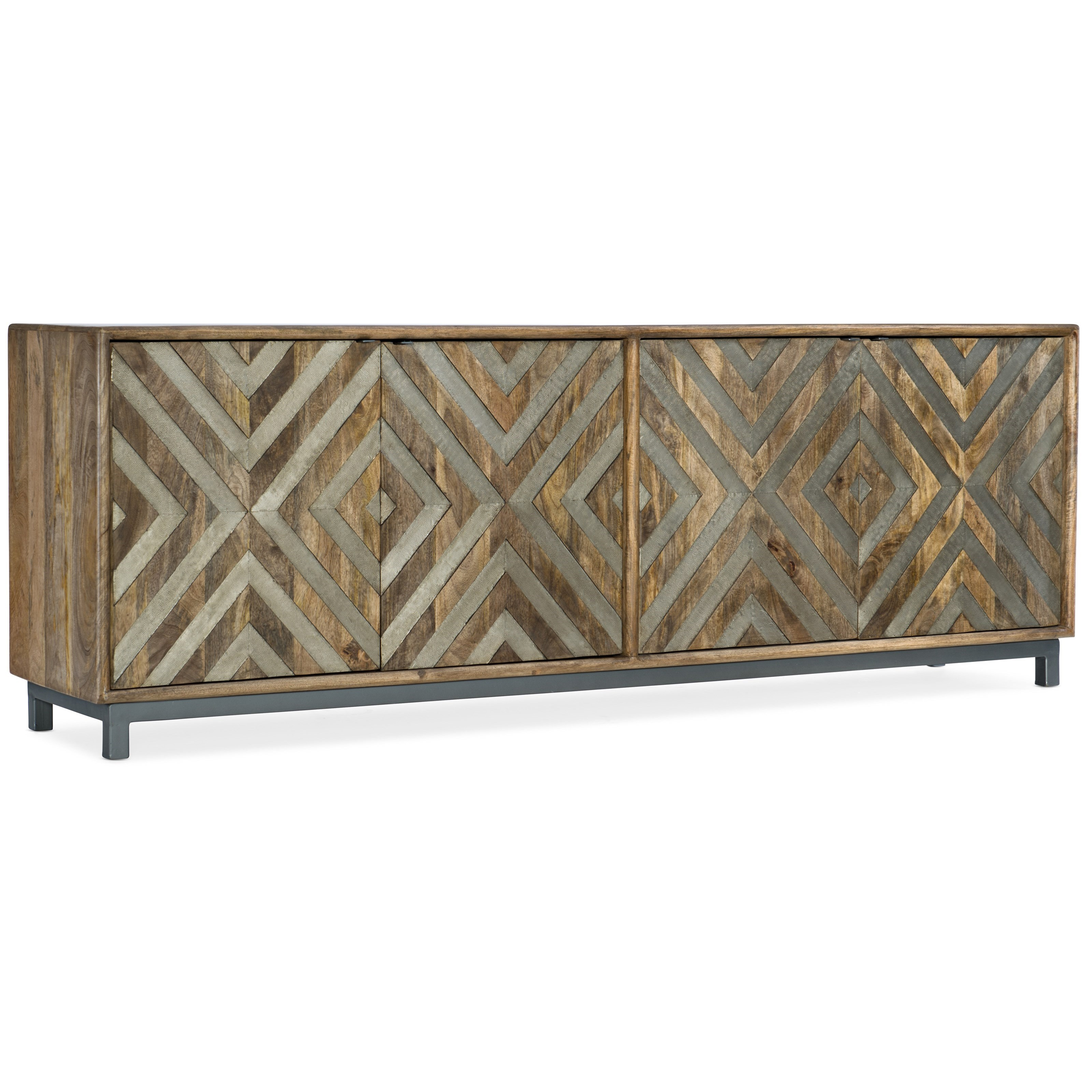 5649-55 Door Entertainment Console by Hooker Furniture at Lindy's Furniture Company
