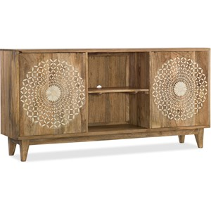 "Point Reyes 69"" Console with Bone Inlay"