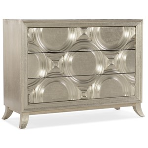Glam Bubbly Accent Chest with Three Drawers