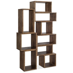 Contemporary Bookcase with Nine Cubbies