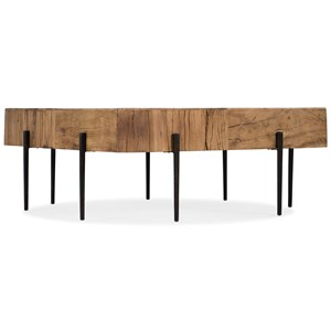 Contemporary Salvaged Wood Square Cocktail Table