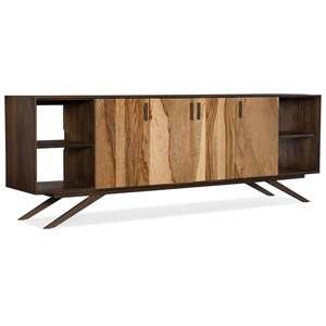 Shogun 78in Entertainment Console with Mango Wood and Metal Legs