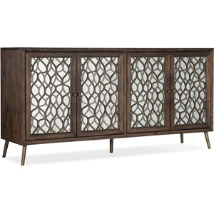 Contemporary Mixed Metals Entertainment Console