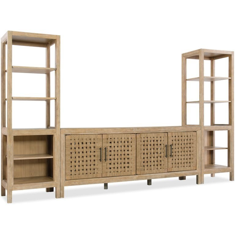 6040-70 Entertainment Wall Unit by Hooker Furniture at Powell's Furniture and Mattress