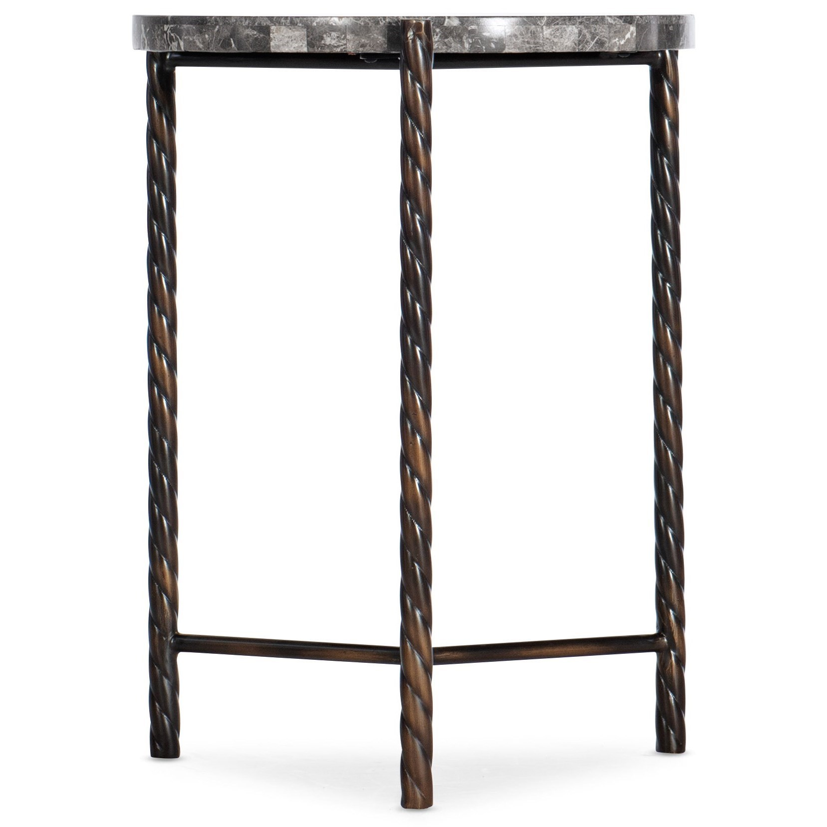 6266 Marble Round End Table by Hooker Furniture at Baer's Furniture