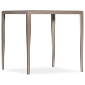 Contemporary White Venetian Marble End Table