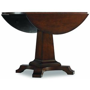Hooker Furniture Abbott Place Round Drop Leaf Pedestal Table