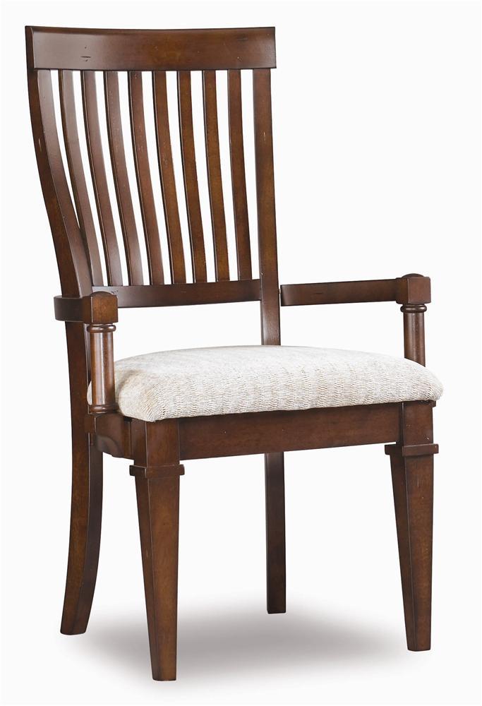Abbott Place Slat Back Arm Chair by Hamilton Home at Sprintz Furniture