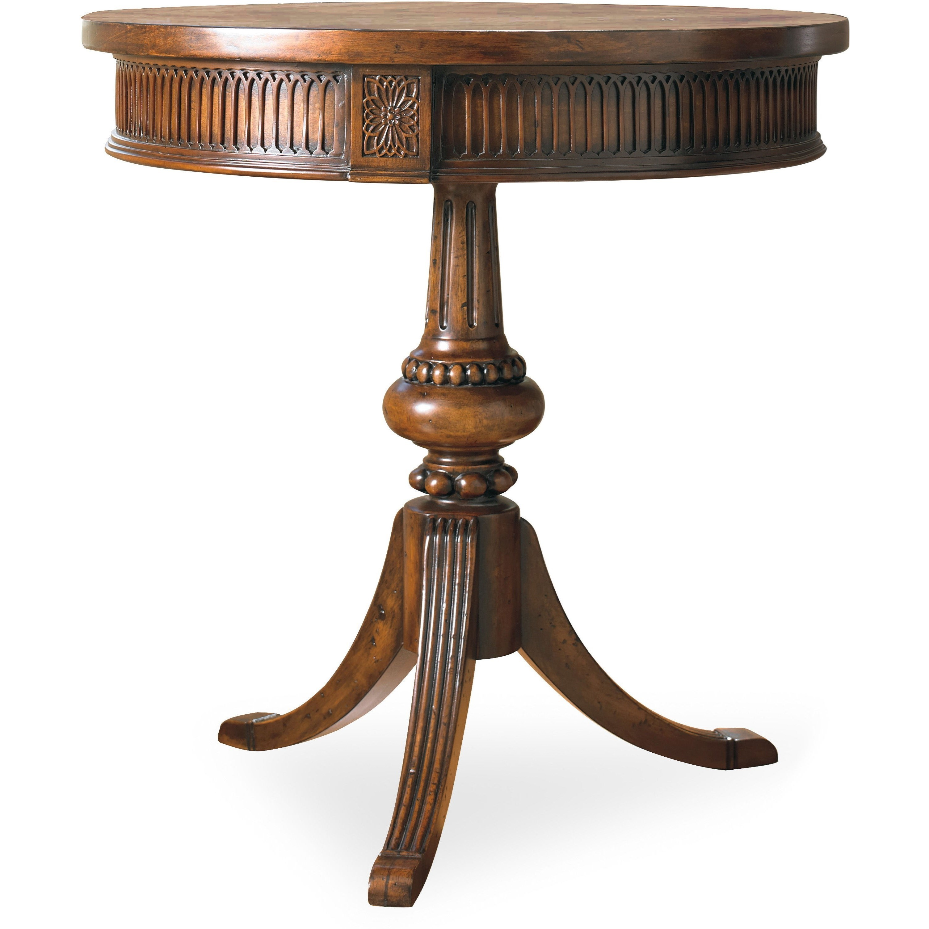 Living Room Accents Round Pedestal Accent Table by Hooker Furniture at Alison Craig Home Furnishings