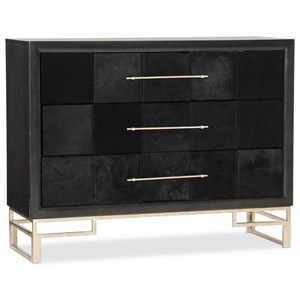 Glam 3-Drawer Hair on Hide Accent Chest