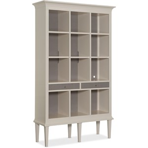 Transitional 12- Shelf Open Display Cabinet