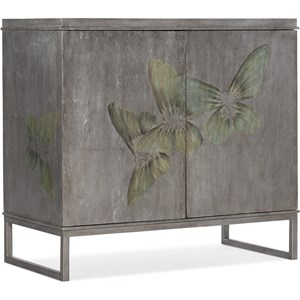 Transitional 2-Door Accent Cabinet with Adjustable Shelves
