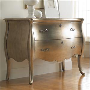 Hooker Furniture Living Room Accents Metallic Bombe Chest