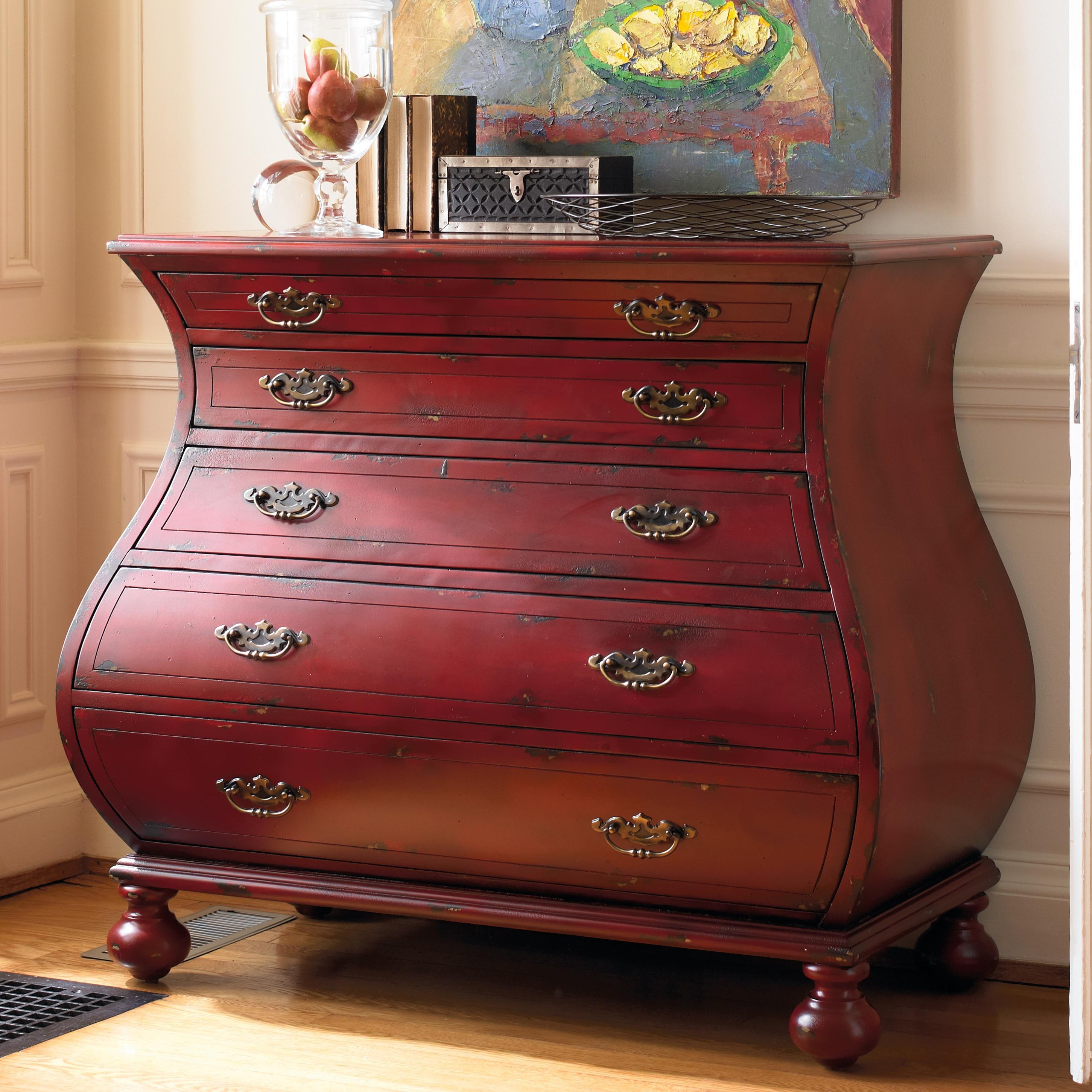 Living Room Accents Red Bombe Chest by Hooker Furniture at Stoney Creek Furniture