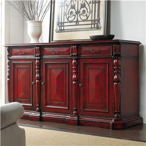 Hooker Furniture Living Room Accents Red Credenza