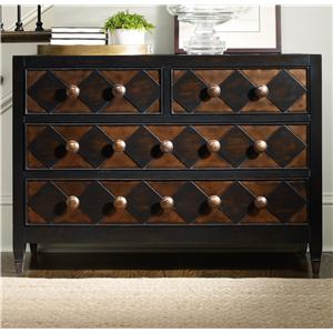Hooker Furniture Living Room Accents Diamond Front Chest