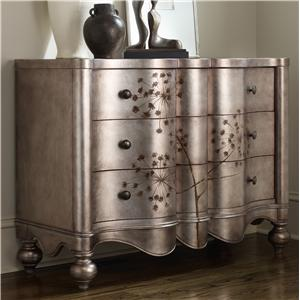 Hooker Furniture Living Room Accents 3 Drawer Shaped Front Chest