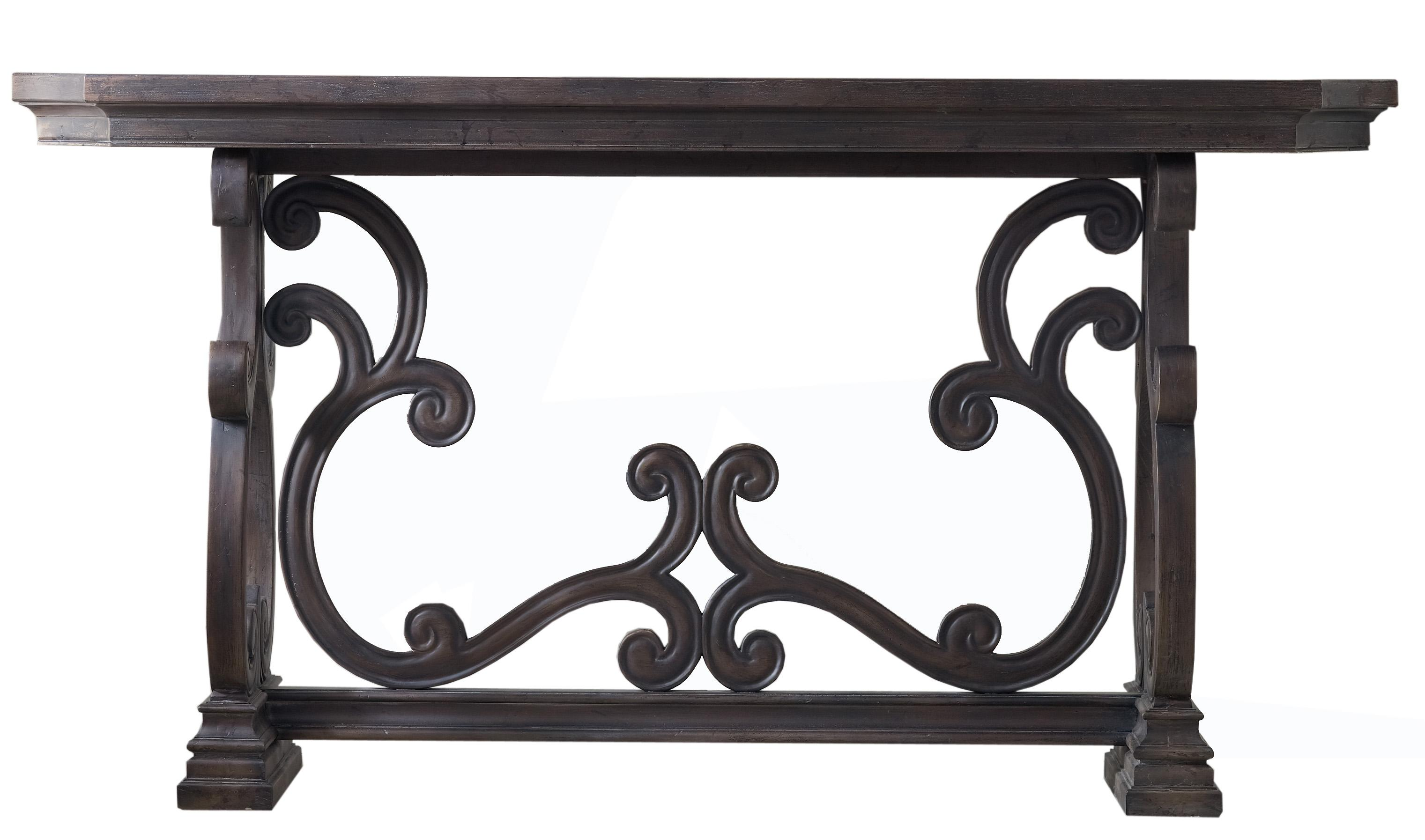 Living Room Accents Da Valle Scroll Console by Hooker Furniture at Fisher Home Furnishings