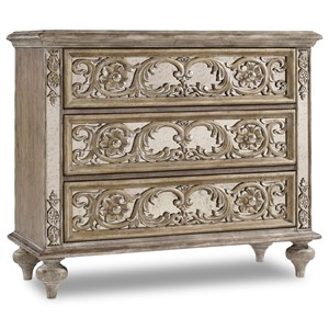 Ornate Mirrored Chest with 3 Drawers
