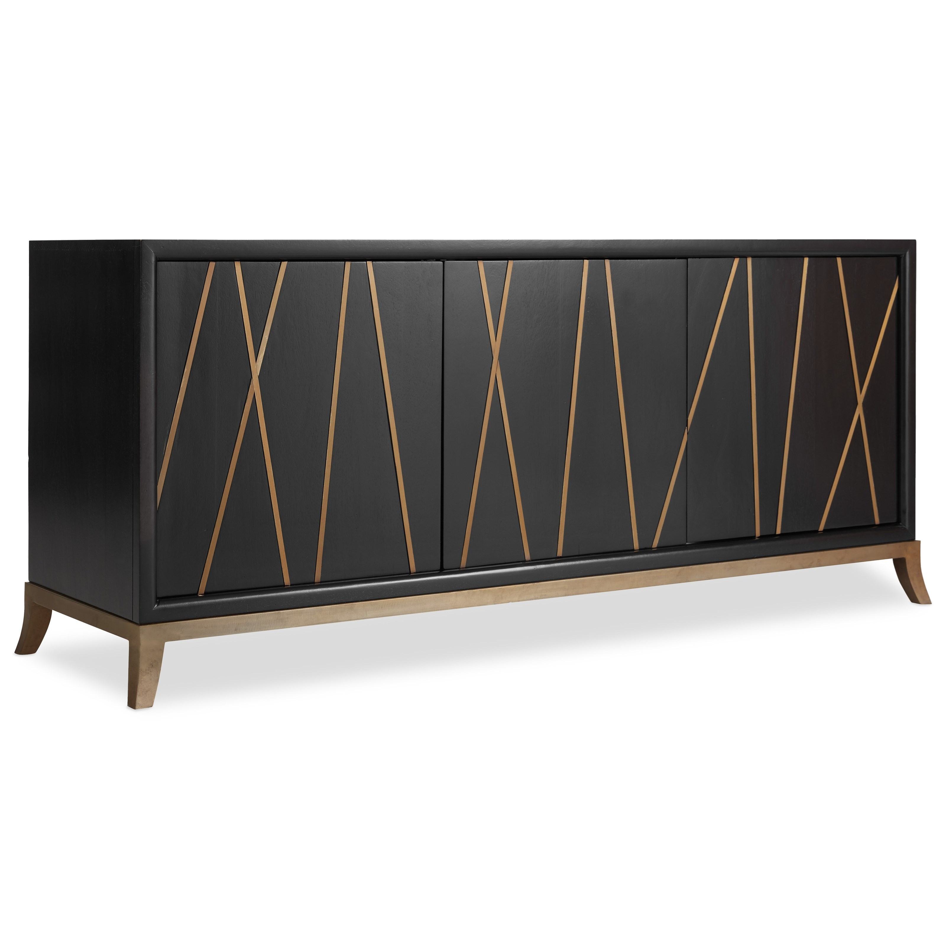 Living Room Accents 64 Inch Entertainment Console by Hooker Furniture at Fashion Furniture