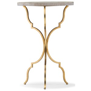 Round Martini Table with Travertine Top