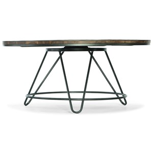 Round Cocktail Table with Spinning Top