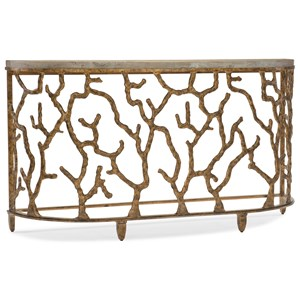 Demilune Console Table with Coral Design