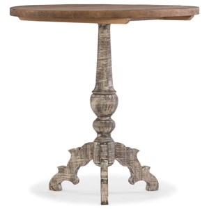 Pedestal Accent Table with Two-Tone Finish