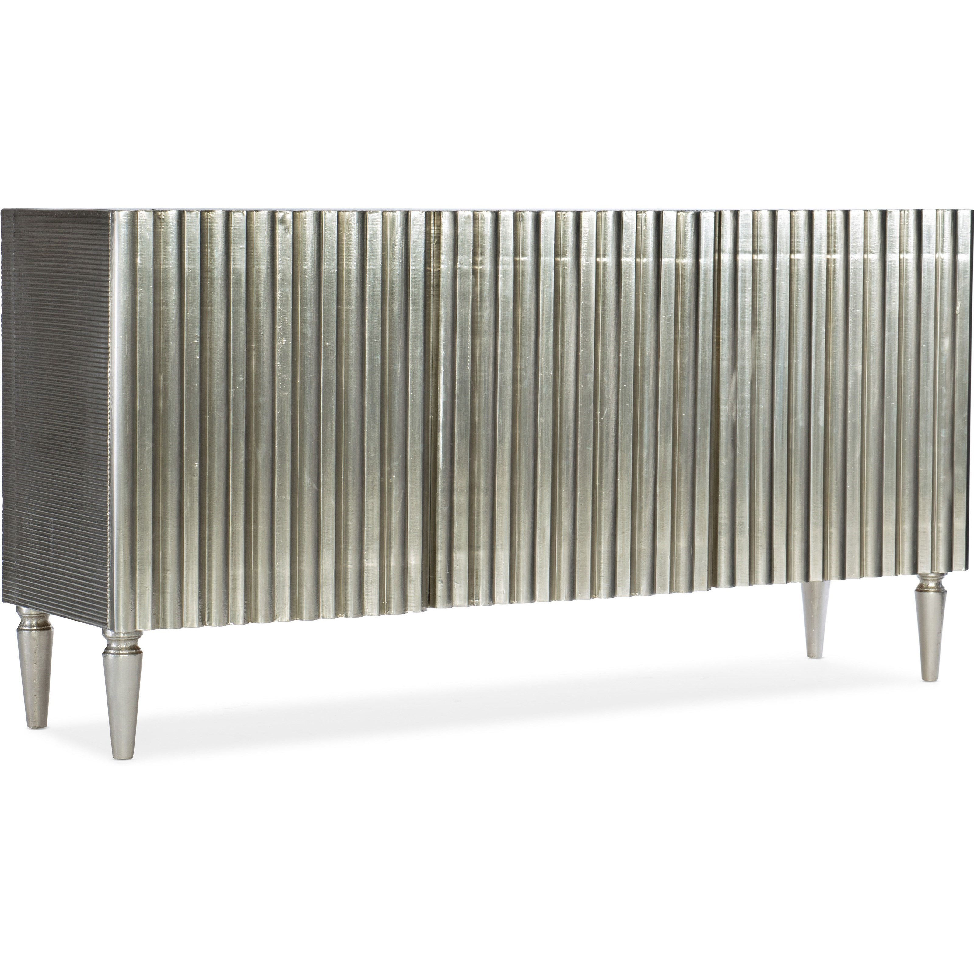 Living Room Accents German Silver Console by Hooker Furniture at Alison Craig Home Furnishings