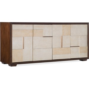 Contemporary Entertainment Console with Adjustable Shelves