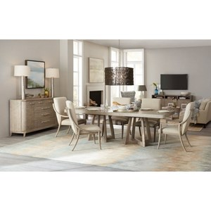 7 Pc Dining Set with Removable Leaf