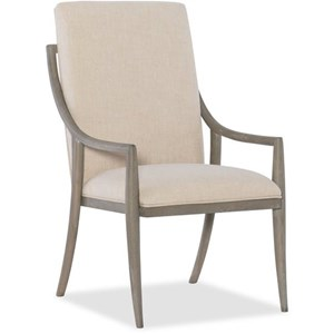 Transitional Host Chair with Upholstered Back and Seat