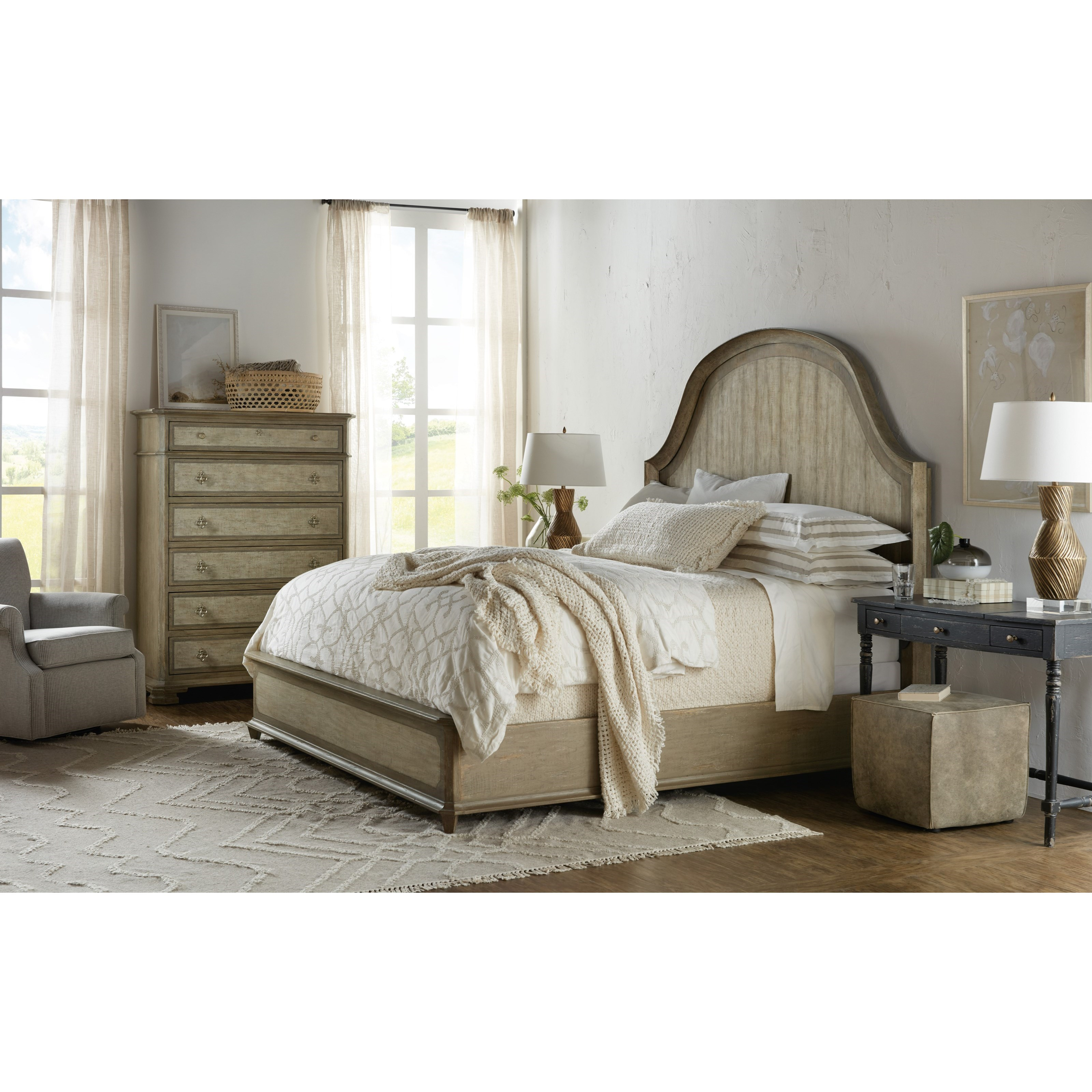 Alfresco Queen Bedroom Group by Hooker Furniture at Miller Waldrop Furniture and Decor