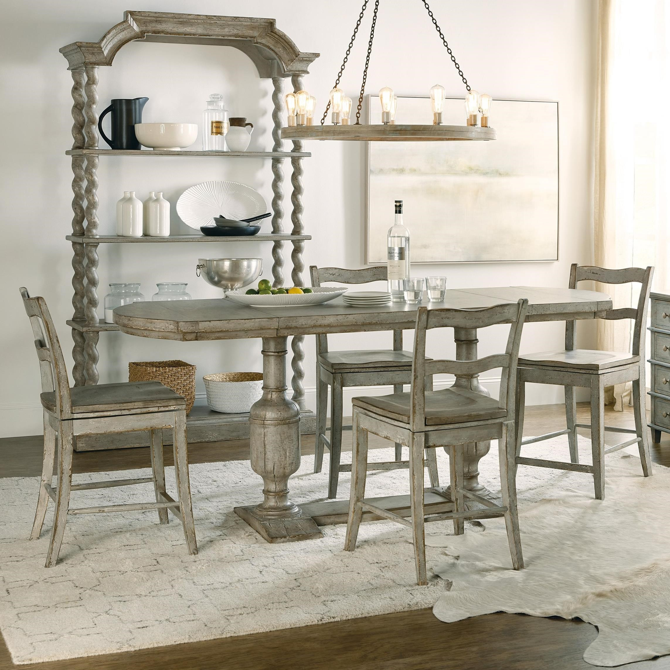Alfresco 5-Piece Counter Height Table Set by Hamilton Home at Sprintz Furniture