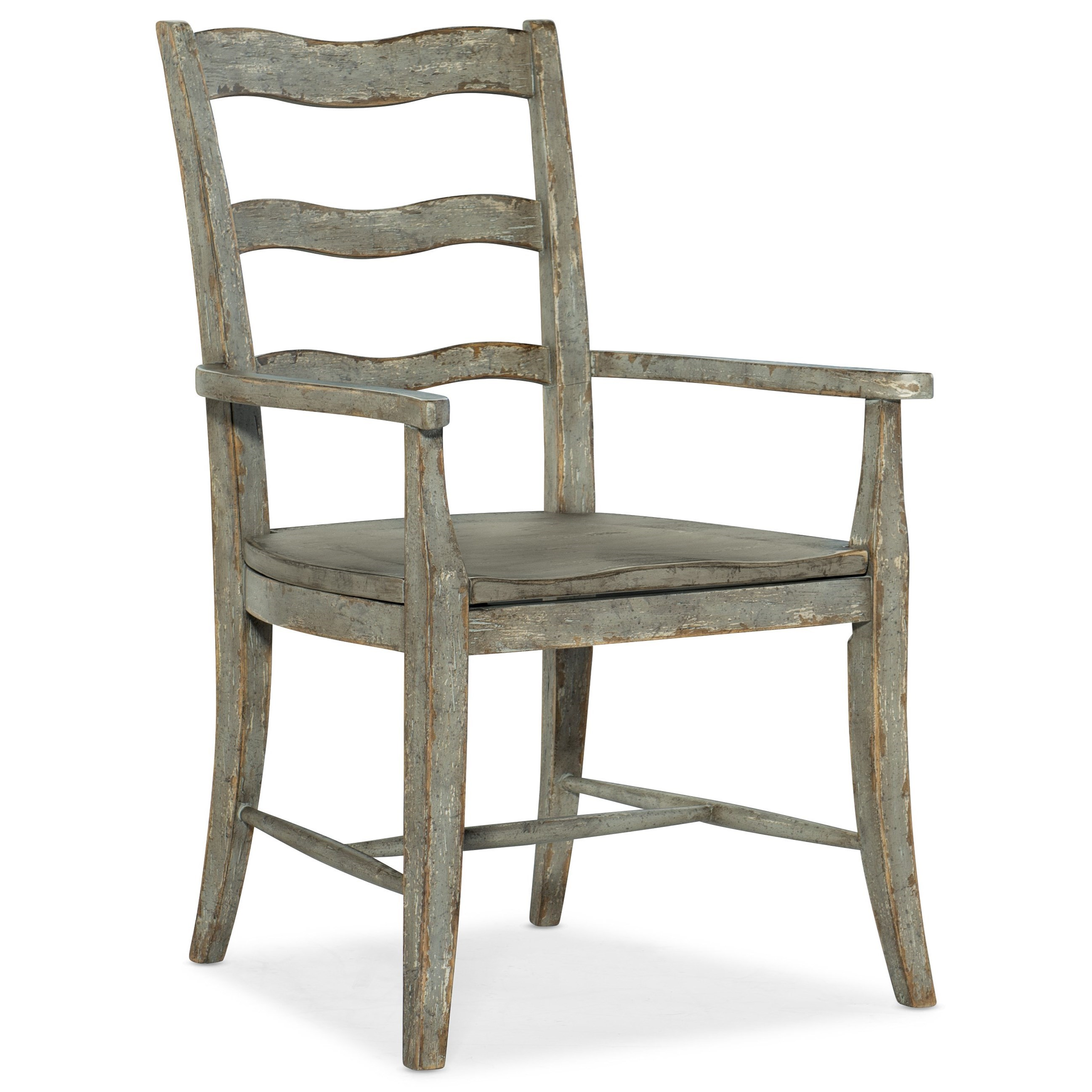 Alfresco La Riva Ladder Back Arm Chair by Hooker Furniture at Alison Craig Home Furnishings