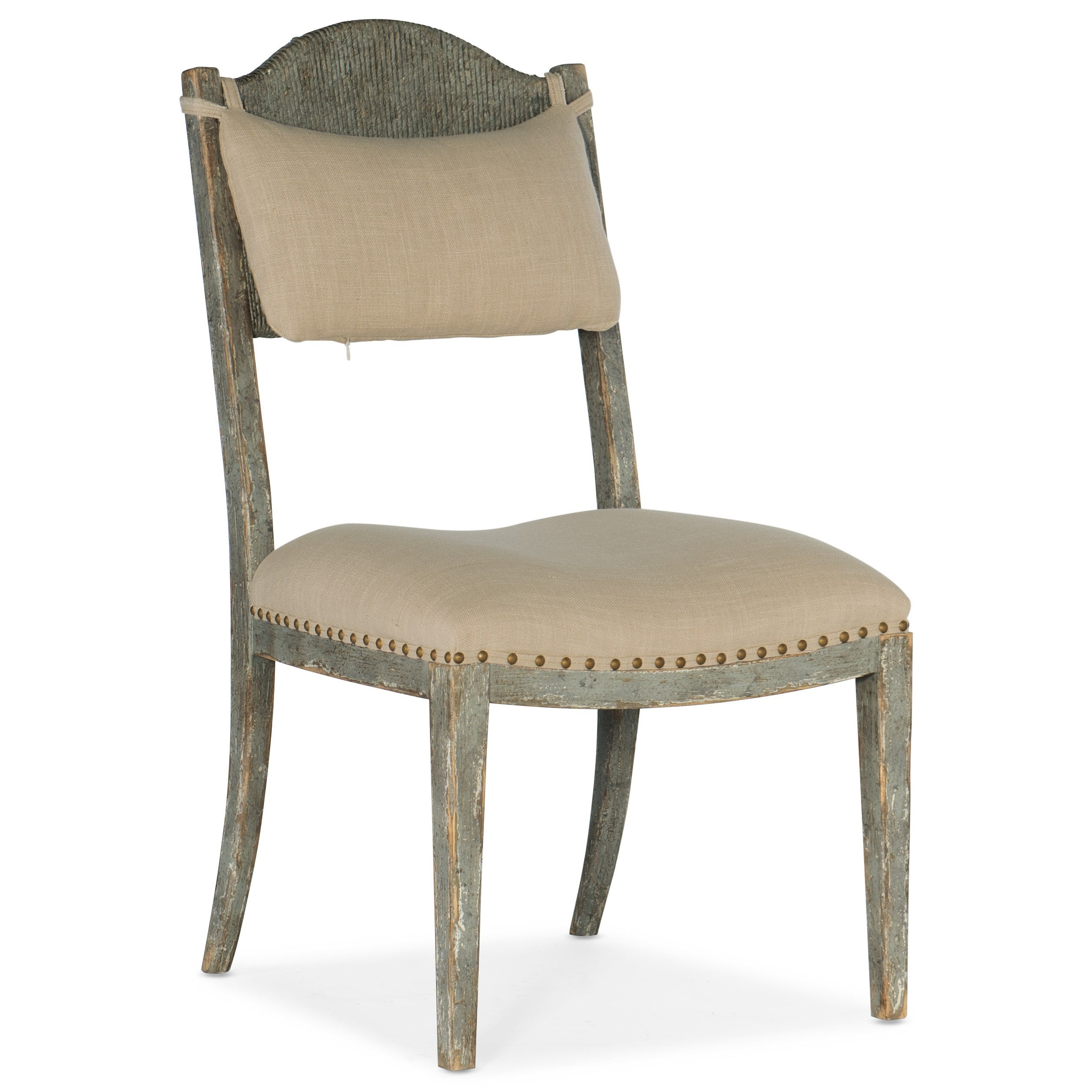 Alfresco Aperto Rush Side Chair by Hooker Furniture at Alison Craig Home Furnishings