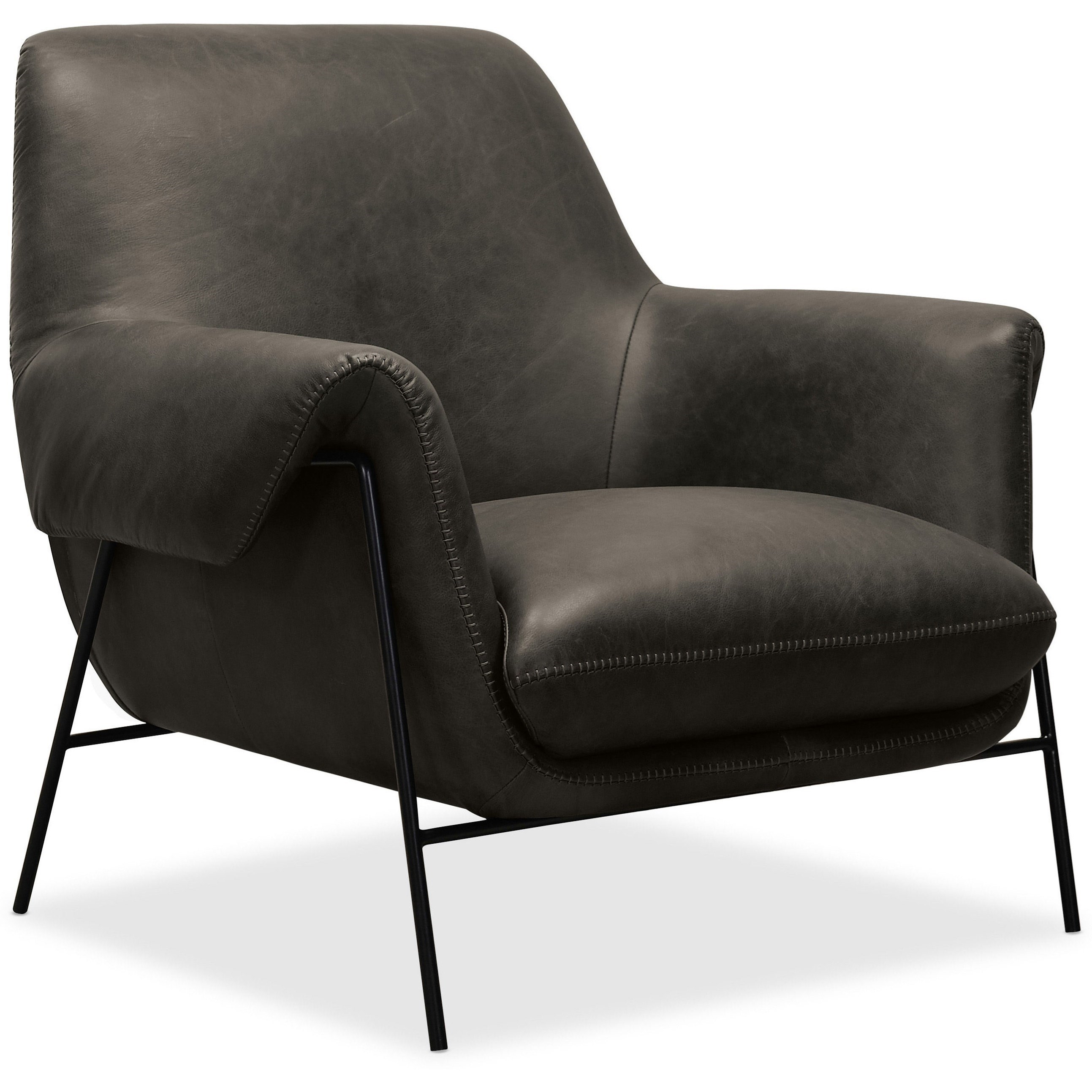 Ambroise Metal Frame Club Chair by Hooker Furniture at Miller Waldrop Furniture and Decor