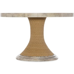48-inch Round Pedestal Dining Table with Wood Top