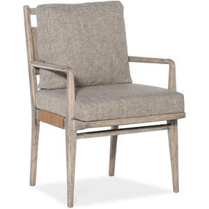 Upholstered Arm Chair with Rope Accents
