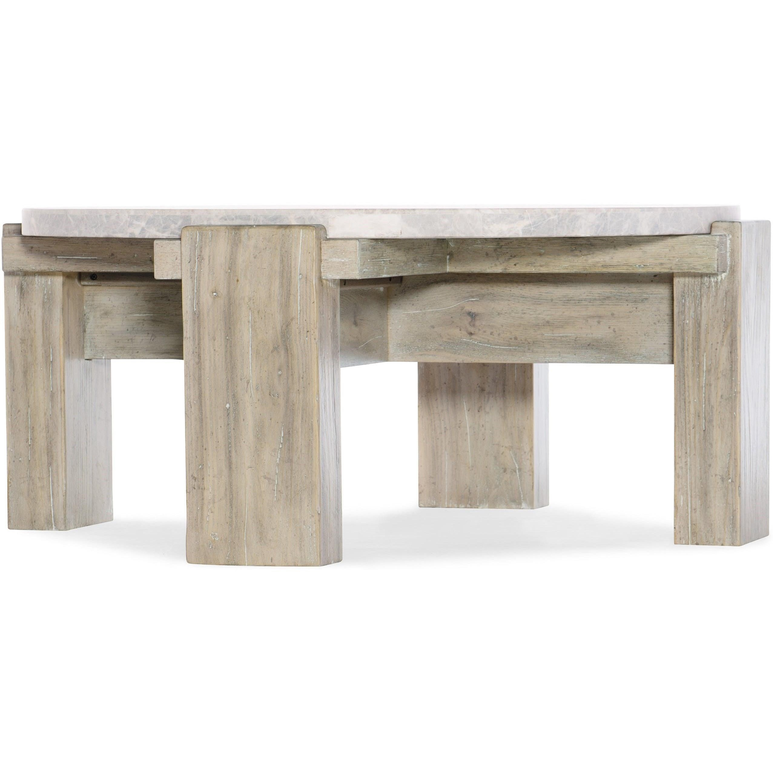 American Life-Amani Round Cocktail Table by Hooker Furniture at Fisher Home Furnishings