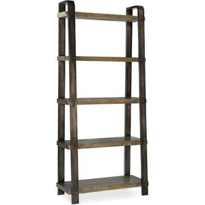 Rustic 5-Tier Bookcase